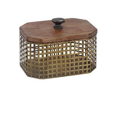 Octagon Gold Cage Decorative Box