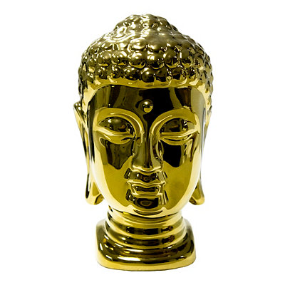 Gold Metallic Buddha Head