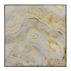 Gray and Gold Geode II Framed Art Print
