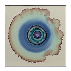 Aqua Watercolor Geodes Framed Art Print