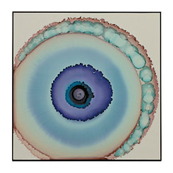 Blue Watercolor Geodes Framed Art Print