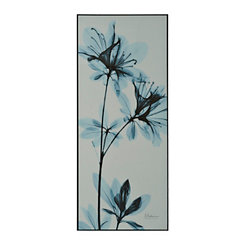 Blue X-Ray Blooms I Framed Art Print