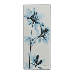 Blue X-Ray Blooms II Framed Art Print