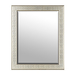 Champagne Pewter Honeycomb Mirror