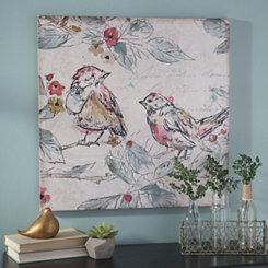 Sketched Birds and Branches Canvas Art Print