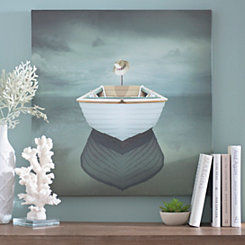 Hat on a Boat Canvas Art Print