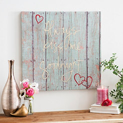 Kiss Me Goodnight Canvas Art Print