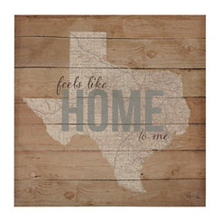 Texas Feels Like Home Canvas Art Print