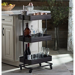 Galvanized Metal 3-Tier Cart