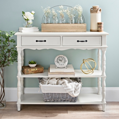 Cream Console Table console tables - entryway tables | kirklands