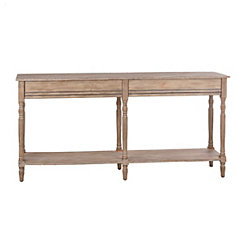 Tacoma Weathered Wooden Double Console table