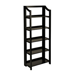 Black Wooden Folding Shelf