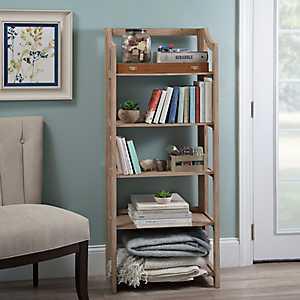 Natural Wooden Folding Shelf