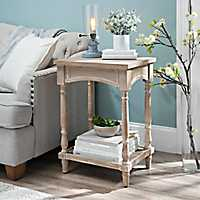 Weathered Brown Arched Accent Table