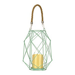 Skylar Turquoise Open Lantern