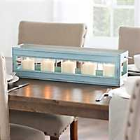 Antiqued Turquoise Candle Runner