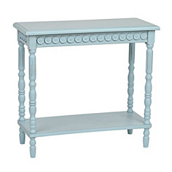 Blue Vintage French Medallion Console Table