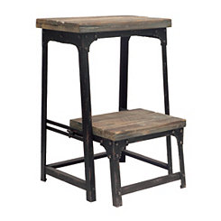 Distressed Industrial Step Stool