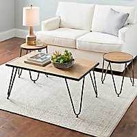 Metal and Wood Caden Table Set