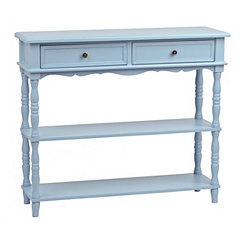 Blue French Market Console Table