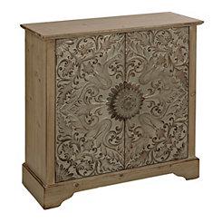 Embossed Metal Emily Cabinet