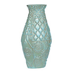Sea Mist Patchwork Vase