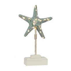 Pre-Lit Blue Starfish Finial