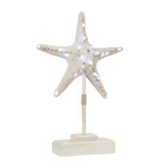 Pre-Lit White Starfish Finial
