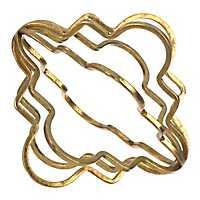 Gold Metal Quatrefoil Orb