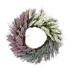 Heather Spiral Vine Wreath, 22 in.
