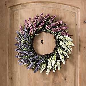 Heather Spiral Vine Wreath, 22 in.