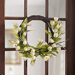 Half Tulip Wreath, 22 in.