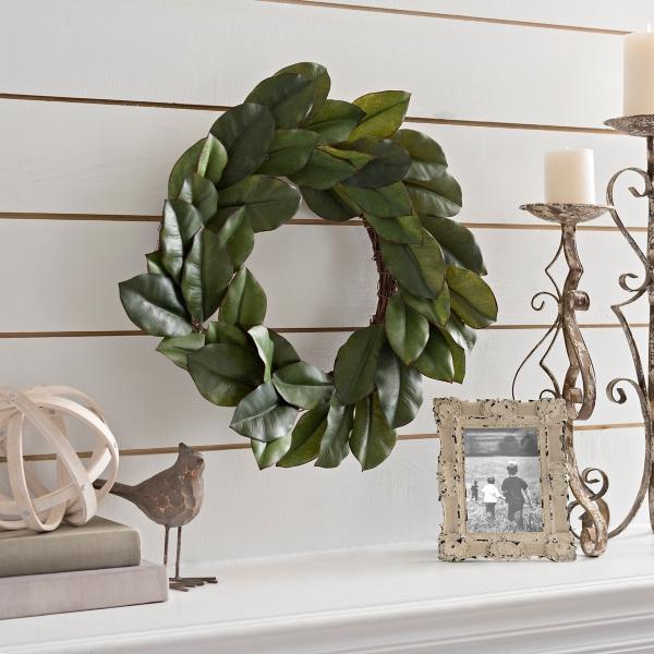 magnolia leaf wreath 24 in - Modern Farmhouse Decor