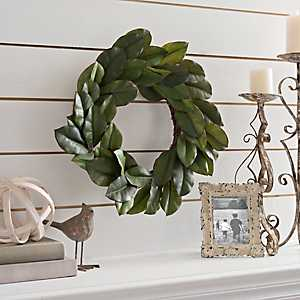 Magnolia Leaf Wreath, 24 in.