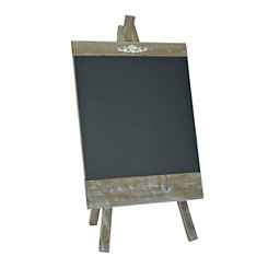 Weathered Wooden Easel Chalkboard