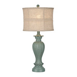 Sand Dune Dusty Blue Table Lamp
