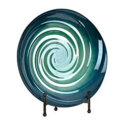 Blue Shades Swirl Decorative Plate