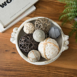 Natural and Gray Mix Dried Orb Set