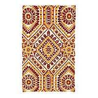 Chatham Red and Orange Tile Scatter Rug