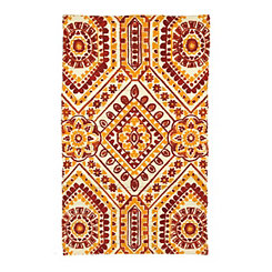 Chatham Red and Orange Tile Scatter Rug