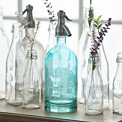 Antiqued Blue Spritzer Bottle