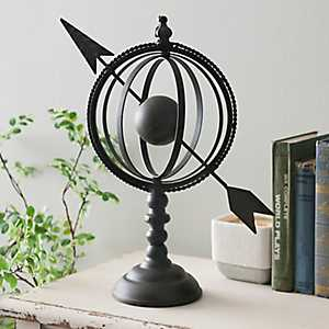 Bronze Armillary Arrow Globe