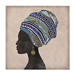 Blue Turban Canvas Art Print