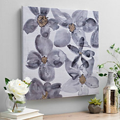 Charcoal Floral Watercolor II Canvas Art Print