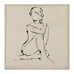 Graceful Lady Front Canvas Art Print