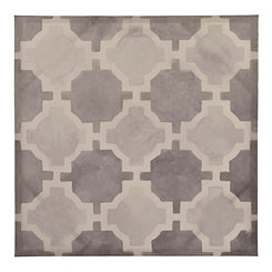 Gray Grids I Canvas Art Print