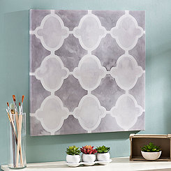 Gray Grids II Canvas Art Print
