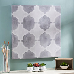 Gray Grids III Canvas Art Print