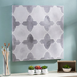 Gray Grids IV Canvas Art Print