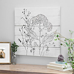 Pen and Ink Florals I Canvas Art Print